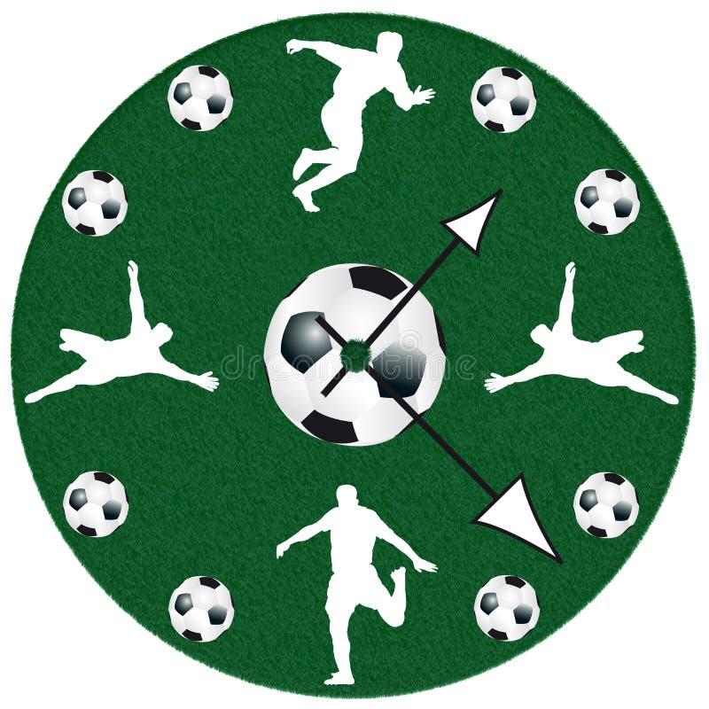 Вахта футбола в белой предпосылке бесплатная иллюстрация