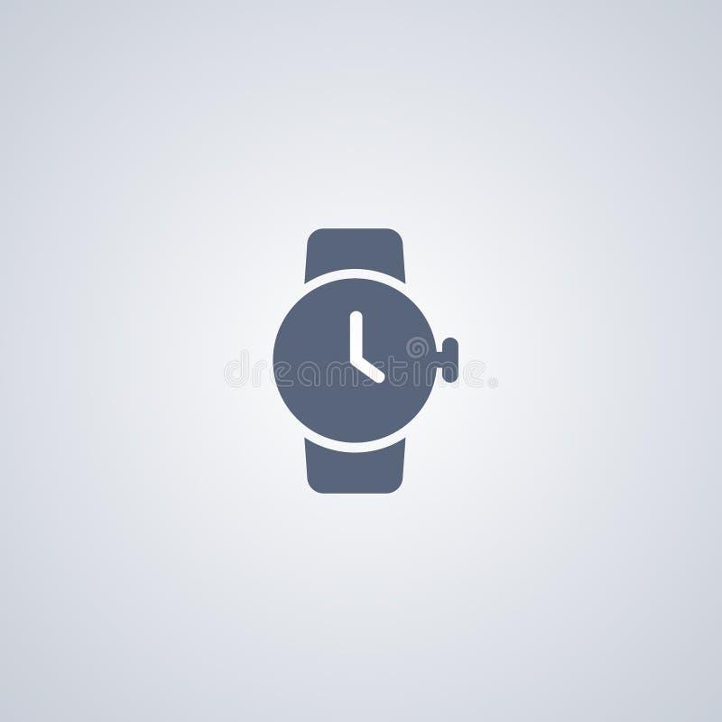 Вахта, часы, vector самый лучший плоский значок иллюстрация вектора