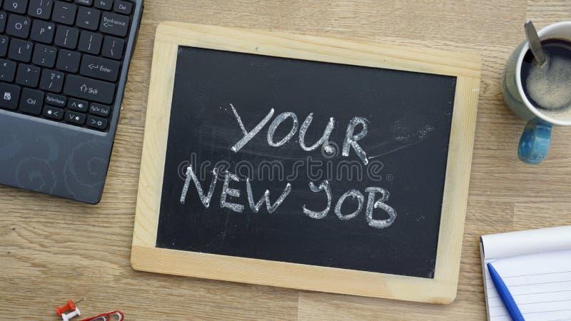 Ваша новая работа на офисе стоковая фотография rf