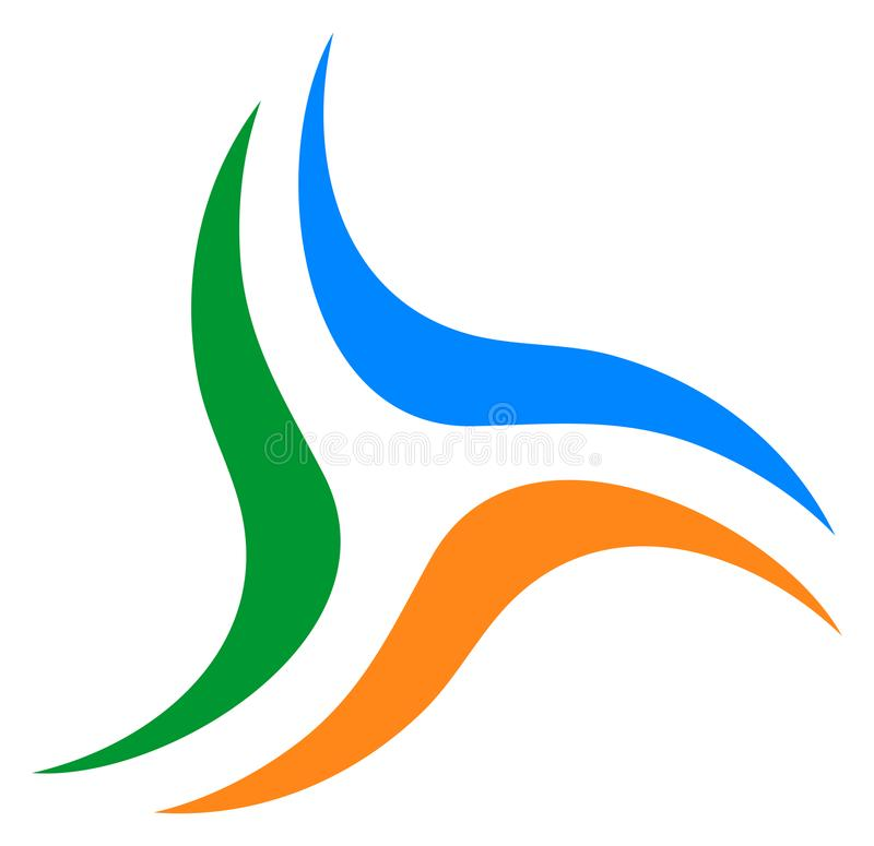 Ваша эмблема деловой компании Логотип свирли иллюстрация штока