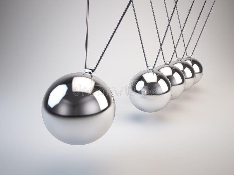 Вашгерд балансируя Ньютона шариков иллюстрация вектора