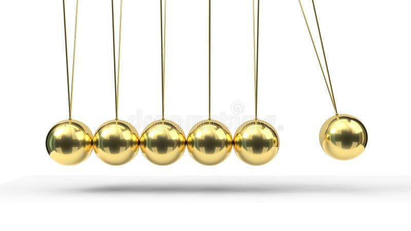 Вашгерд Ньютона с шариками золота : иллюстрация вектора