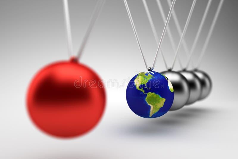 Вашгерд Ньютона - 3d представляют бесплатная иллюстрация