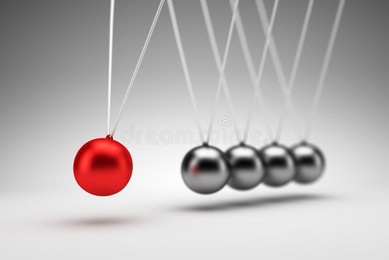 Вашгерд Ньютона - 3d представляют иллюстрация штока