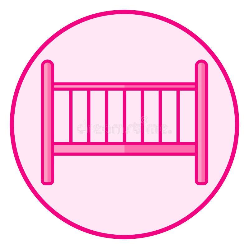 Вашгерд Розовый значок младенца на белой предпосылке иллюстрация штока