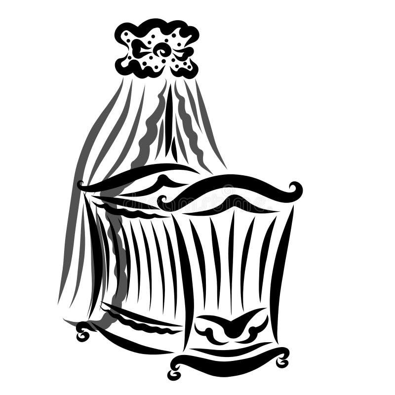 Вашгерд с прозрачной сенью, черная картина младенца бесплатная иллюстрация