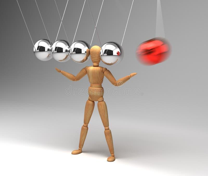 Вашгерд ` s Ньютона с людьми иллюстрация штока