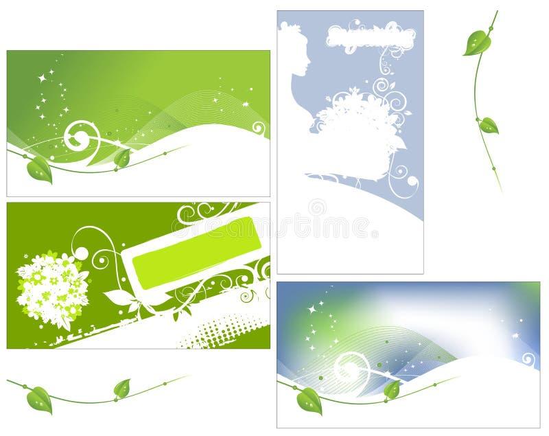 ваше конструкции собрания визитной карточки флористическое бесплатная иллюстрация