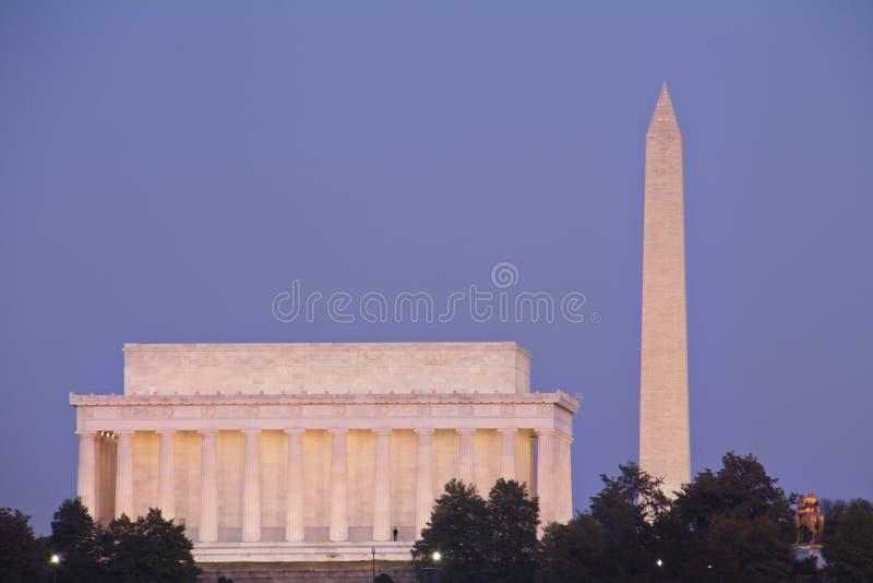 вашингтон горизонта dc стоковое изображение rf