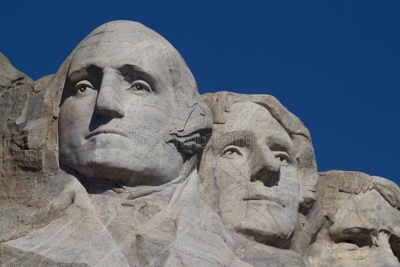 Вашингтон и Jefferson на держателе Rushmore стоковые изображения