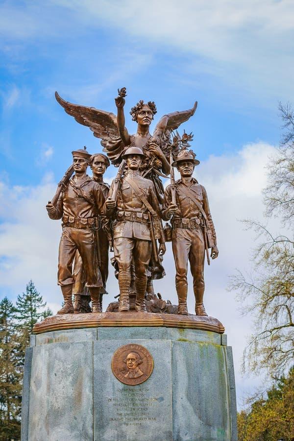 Вашингтон подогнал памятник победы стоковые фотографии rf