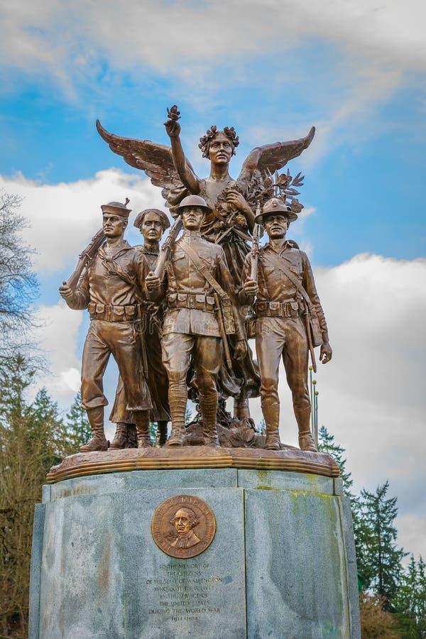 Вашингтон подогнал памятник победы стоковая фотография rf