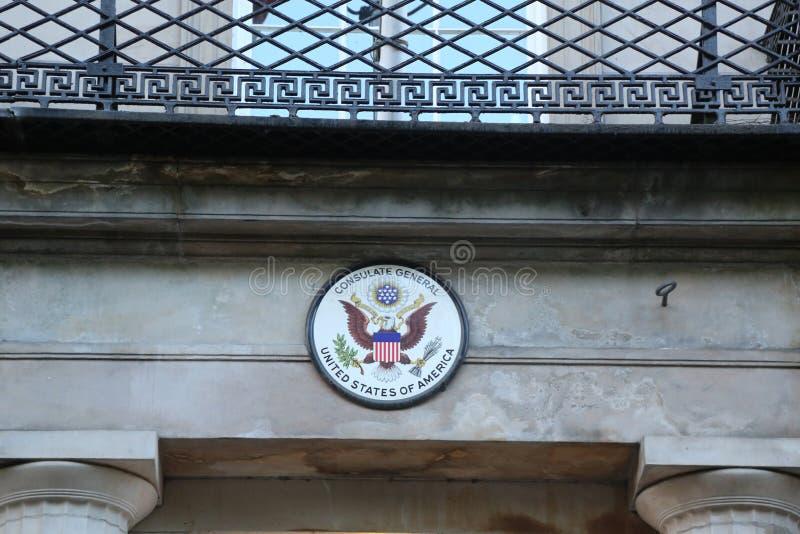 вашингтон суда d s высший u c S Генеральное консульство в Эдинбурге, Шотландии стоковые фото