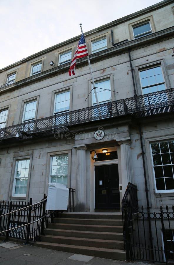 вашингтон суда d s высший u c S Генеральное консульство в Эдинбурге, Шотландии стоковые изображения