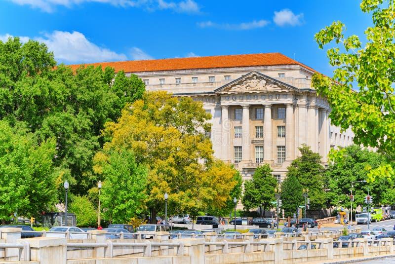 Вашингтон, США, здание Уильям Джефферсон Клинтона западное стоковые фото