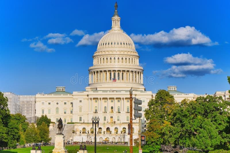 Вашингтон, США, капитолий Соединенных Штатов, Ulysses s Grant Memoria стоковая фотография