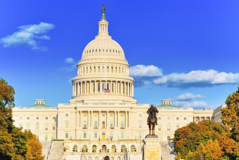 Вашингтон, США, капитолий Соединенных Штатов, Ulysses s Grant Memoria стоковые изображения rf