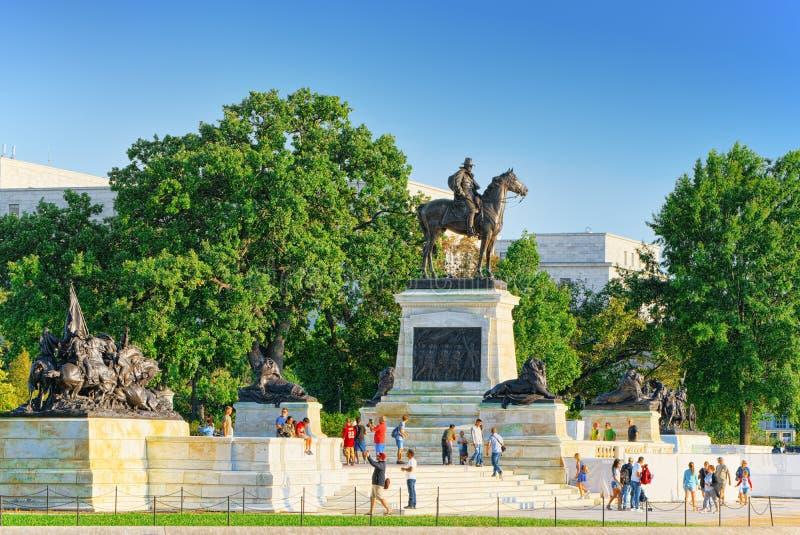 Вашингтон, США, капитолий Соединенных Штатов, Ulysses s Grant Memoria стоковое фото