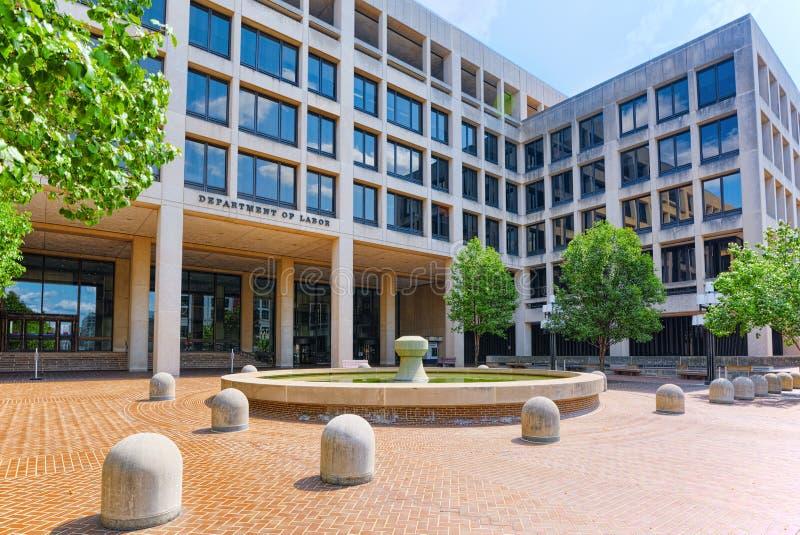 Вашингтон, США, министерство труда Соединенных Штатов стоковое изображение