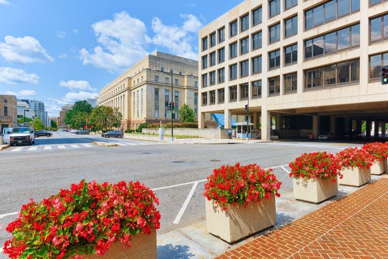 Вашингтон, США, министерство труда Соединенных Штатов стоковые фотографии rf
