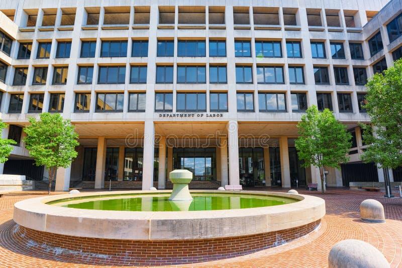 Вашингтон, США, министерство труда Соединенных Штатов стоковое фото rf