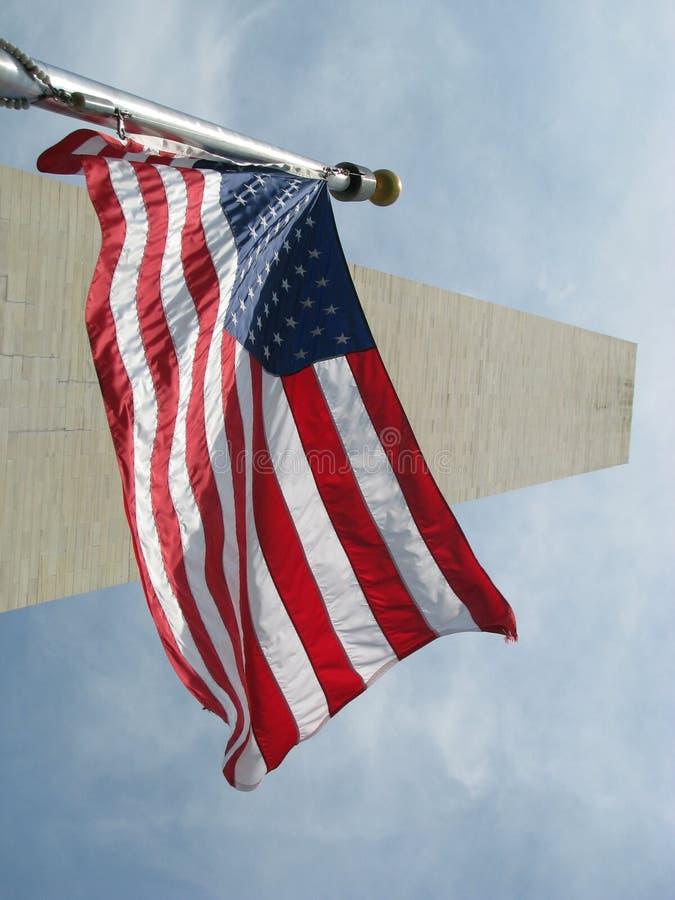вашингтон США памятника флага стоковая фотография rf