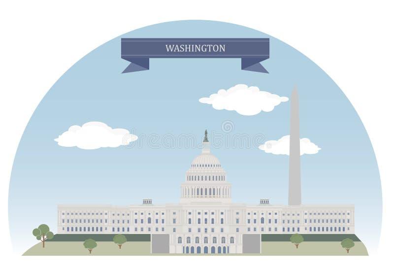 Вашингтон, США иллюстрация вектора