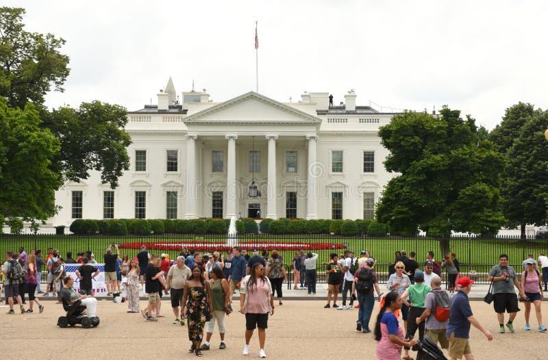 Вашингтон, DC - 2-ое июня 2018: Люди около Белого Дома, были стоковое изображение