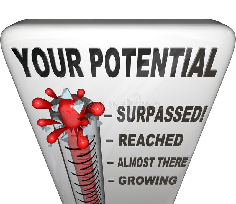 Ваш измеренный потенциал вы достигнете ваш полный успех иллюстрация вектора