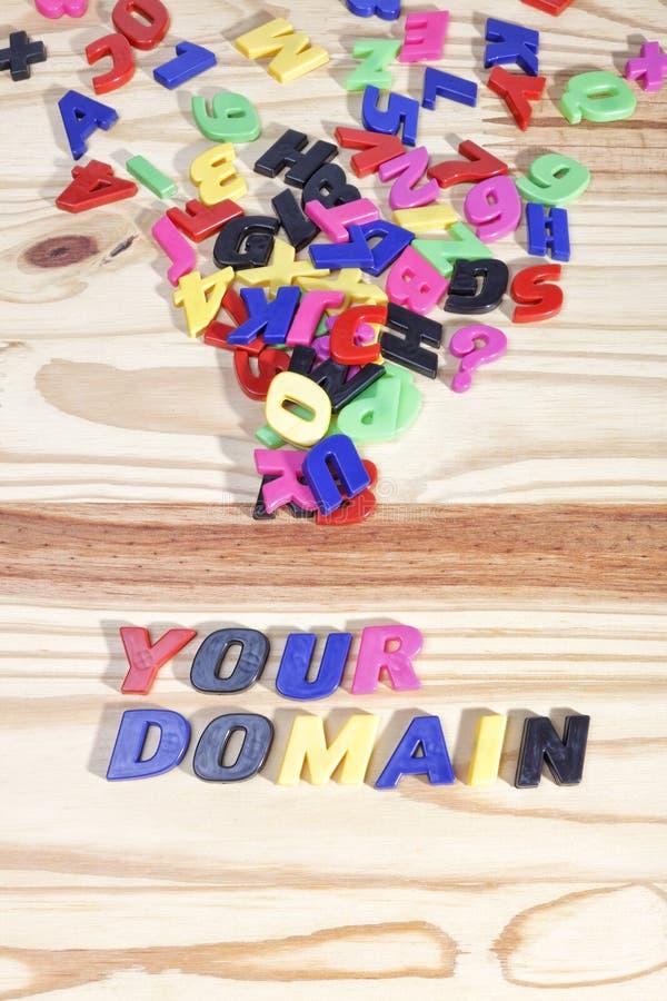 Ваш домен стоковое фото