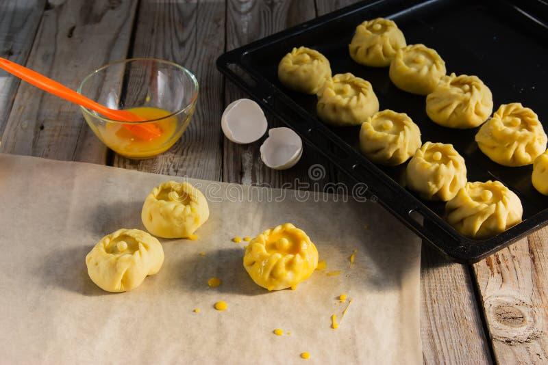 Ваяйте русскую концепцию kurniki пирогов стоковое фото