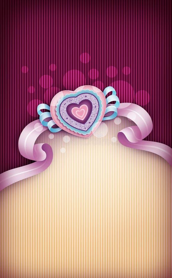 Валентайн формы влюбленности сердца карточки стоковая фотография rf