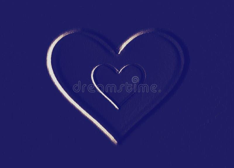 Валентинка (голубые сердца) стоковые изображения