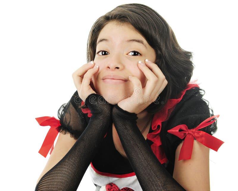 Валентинка конца-вверх молодая предназначенная для подростков стоковая фотография