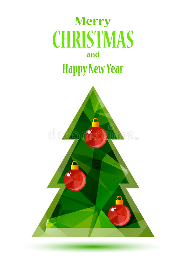 вал рождества зеленый иллюстрация вектора