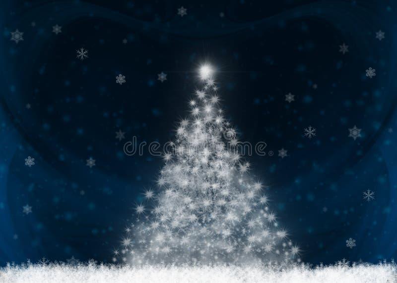 вал рождества светя иллюстрация вектора