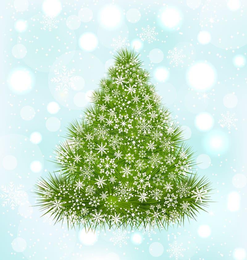 вал снежинок элемента конструкции рождества бесплатная иллюстрация