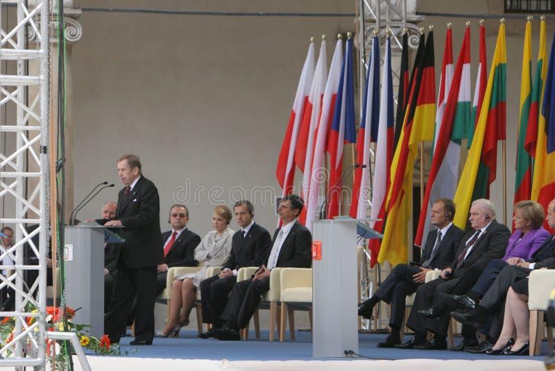 двадцатая годовщина сброса давления коммунизма в Центральной Европе стоковые фотографии rf