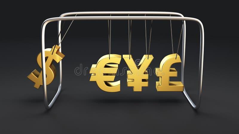 Валютный кризис иллюстрация вектора