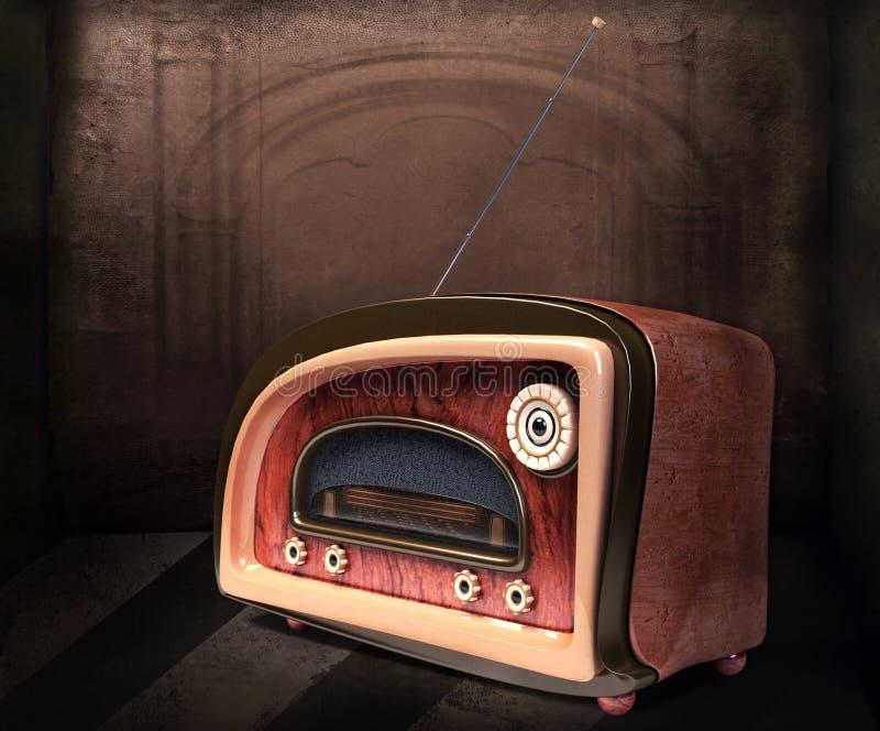 введенное в моду ретро радио стоковое изображение