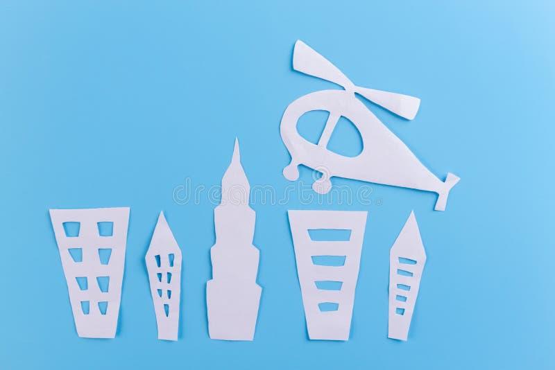 введенный в моду мультфильм города стоковые фотографии rf