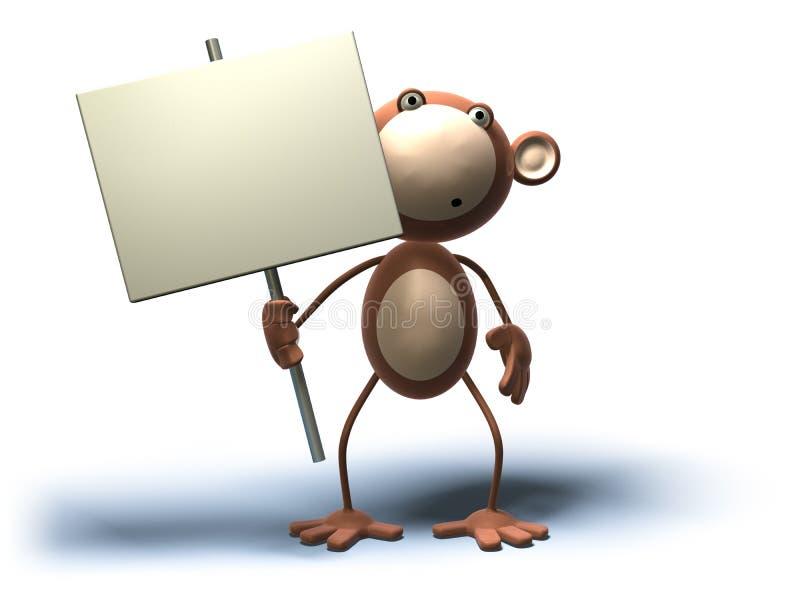 введите текст обезьяны ваш иллюстрация штока