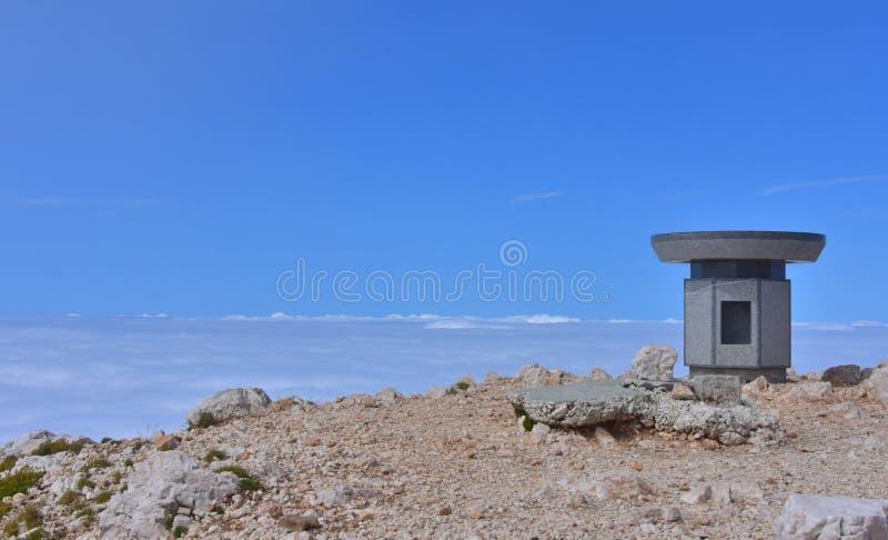 Вверху гора стоковое фото rf
