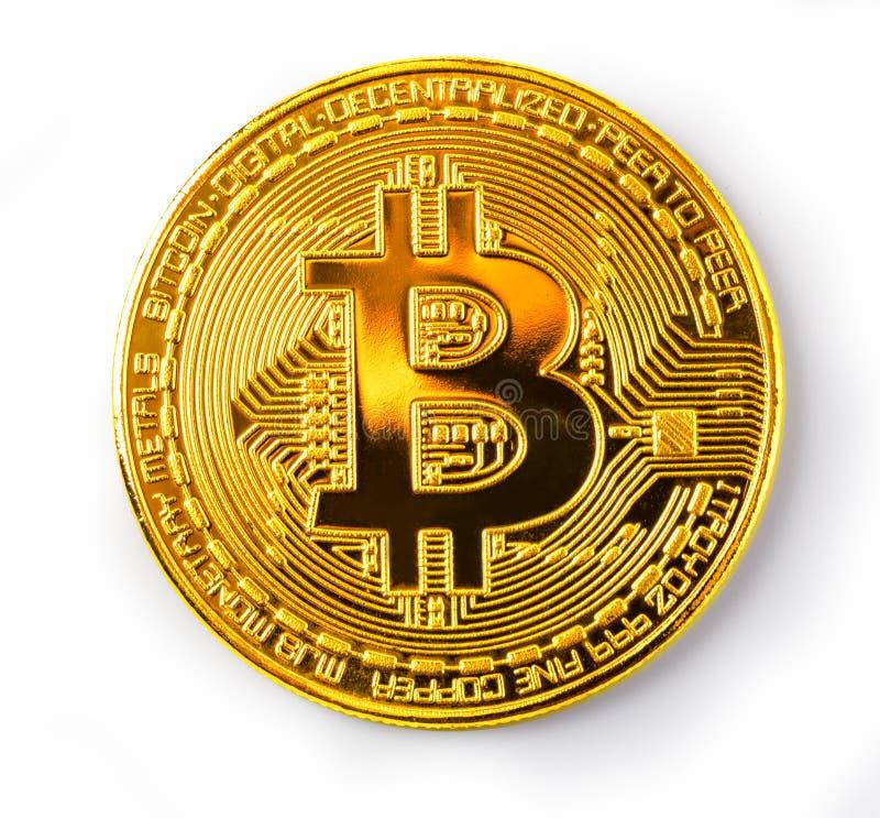 Вверх изолированный конец Bitcoin стоковые изображения