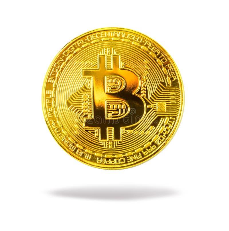 Вверх изолированный конец Bitcoin стоковое фото rf