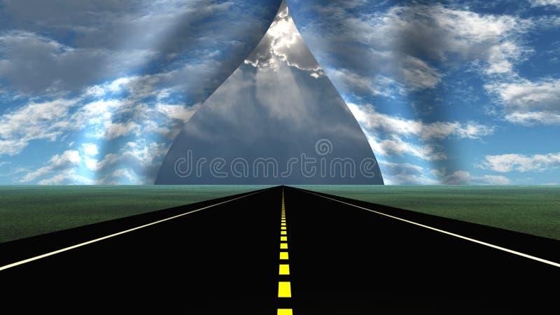 Вверх по вперед разрыву в ткани неба бесплатная иллюстрация