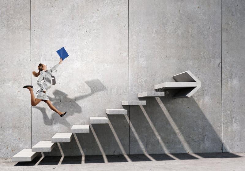 Вверх по лестнице карьеры стоковые фотографии rf