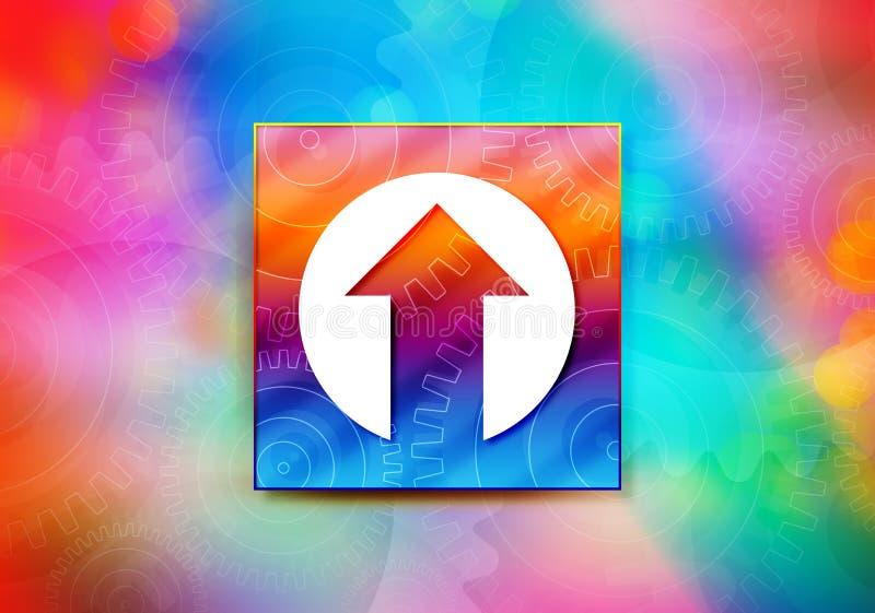 Вверх по иллюстрации дизайна bokeh предпосылки конспекта значка стрелки красочной бесплатная иллюстрация