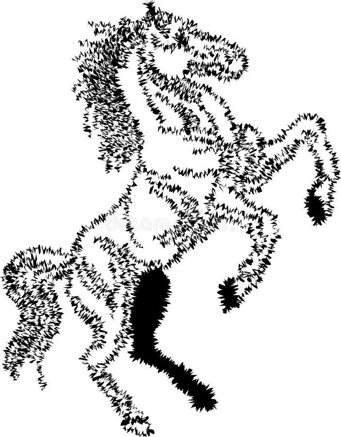 Введенная в моду лошадь хода щетки скача иллюстрация штока