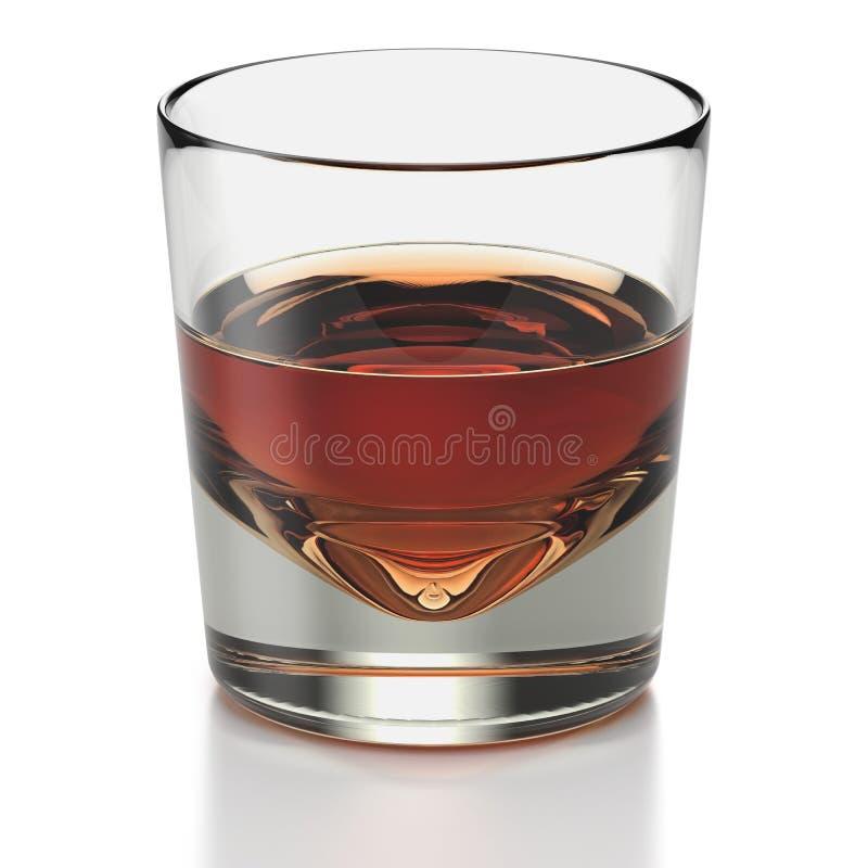 ввпейте стеклянный тип виски короткой съемки иллюстрация вектора
